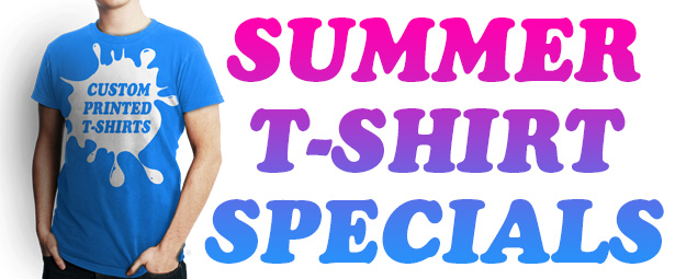 Custom Printed Tshirt Specials