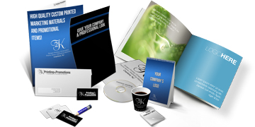Design custom printed marketing materials with 2K