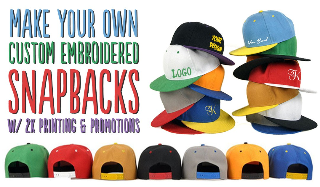 Custom Embroidered Snapback Flatbrim Hats