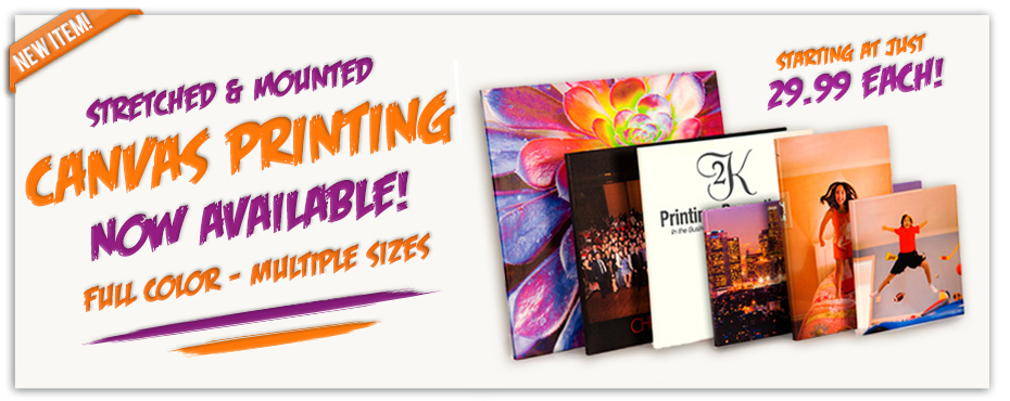 Mounted Stretched Canvas Printing Company Special