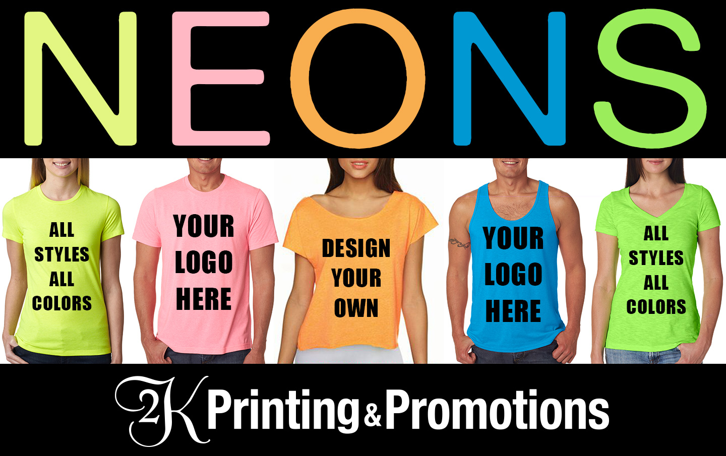 Custom Printed Neon Shirts In All Styles And Colors 2k