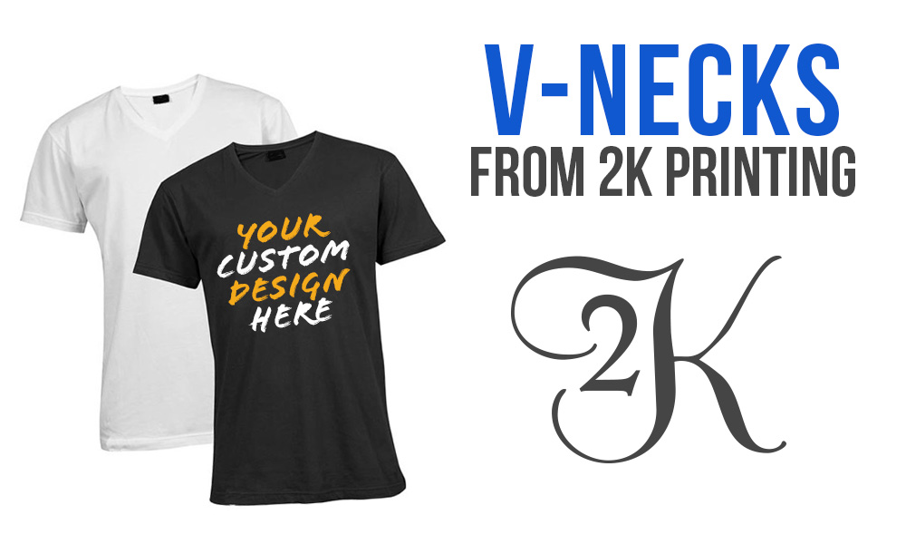 Custom Printed V Necks From 2K Printing Promotions