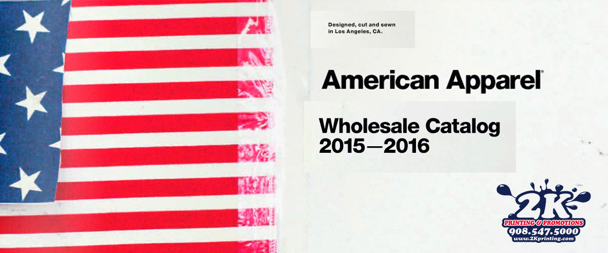 2K Printing Blog Header American Apparel Catalog 2016