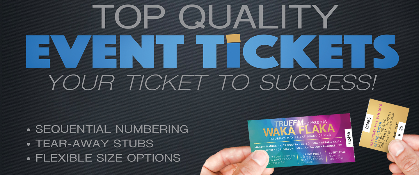 Get Ready For Your End Of The Year Fundraising Event With Custom Event Tickets!