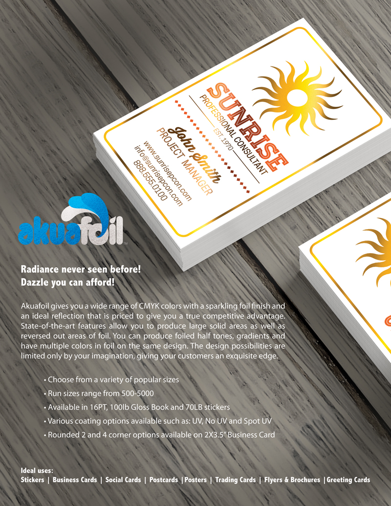 Square Business Cards with Akuafoil & Spot UV for Weregild Jewelry ...