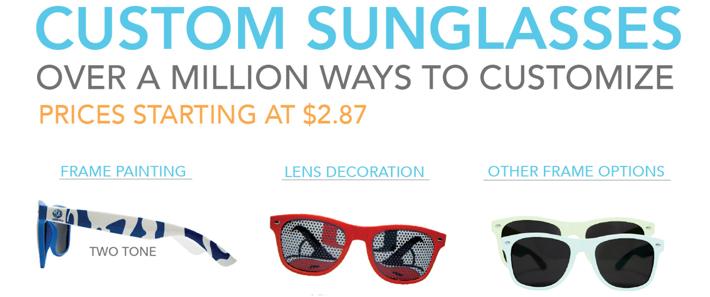 Custom Sunglasses – Over 1,000,000 Ways To Customize!