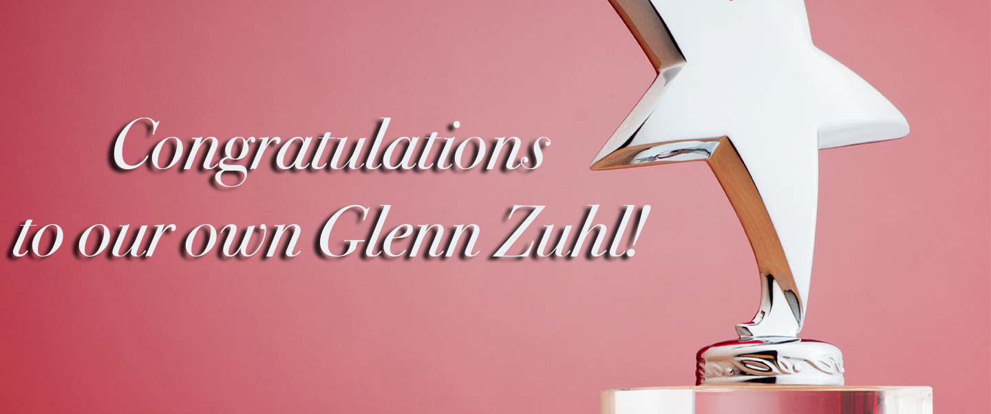 Congratulations To Our Own Glenn Zuhl!