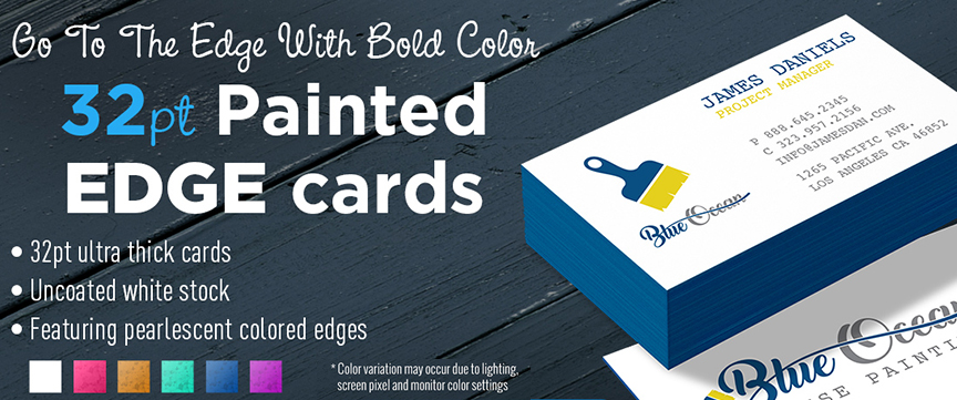 2K Blog Post Painted Edge Business Cards 32 Pt